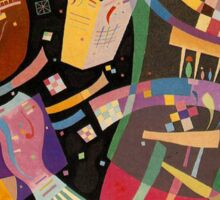 Abstract colour on black Kandinsky painting Sticker