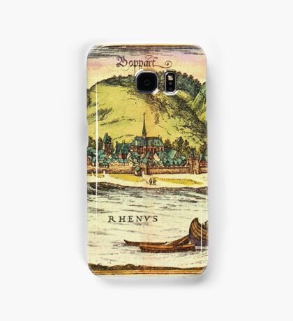 Boppard Vintage map.Geography Germany ,city view,building,political,Lithography,historical fashion,geo design,Cartography,Country,Science,history,urban Samsung Galaxy Case/Skin