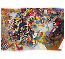 Colourful Detailed Kandinsky painting Poster