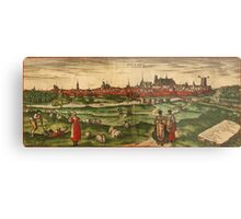 Bourges Vintage map.Geography France ,city view,building,political,Lithography,historical fashion,geo design,Cartography,Country,Science,history,urban Metal Print