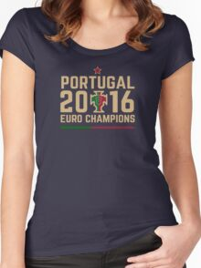 Portugal Euro 2016 Champions T-Shirts etc. ID-2 Women's Fitted Scoop T-Shirt