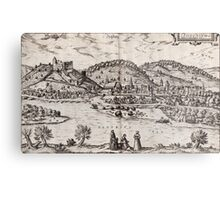 Bratislava Vintage map.Geography Slovakia ,city view,building,political,Lithography,historical fashion,geo design,Cartography,Country,Science,history,urban Metal Print