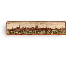 Braunschweig Vintage map.Geography Germany ,city view,building,political,Lithography,historical fashion,geo design,Cartography,Country,Science,history,urban Canvas Print