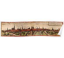 Braunschweig Vintage map.Geography Germany ,city view,building,political,Lithography,historical fashion,geo design,Cartography,Country,Science,history,urban Poster