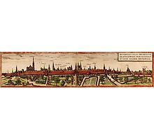 Braunschweig Vintage map.Geography Germany ,city view,building,political,Lithography,historical fashion,geo design,Cartography,Country,Science,history,urban Photographic Print