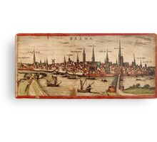 Bremen Vintage map.Geography Germany ,city view,building,political,Lithography,historical fashion,geo design,Cartography,Country,Science,history,urban Metal Print