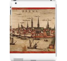 Bremen Vintage map.Geography Germany ,city view,building,political,Lithography,historical fashion,geo design,Cartography,Country,Science,history,urban iPad Case/Skin
