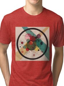 Kandinsky Abstract Painting Tri-blend T-Shirt