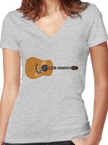 Hansard Guitar Women's Fitted V-Neck T-Shirt