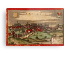 Brouwershaven Vintage map.Geography Netherlands ,city view,building,political,Lithography,historical fashion,geo design,Cartography,Country,Science,history,urban Metal Print