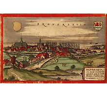 Brouwershaven Vintage map.Geography Netherlands ,city view,building,political,Lithography,historical fashion,geo design,Cartography,Country,Science,history,urban Photographic Print