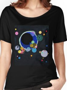 Abstract Kandinsky Painting black and blue Women's Relaxed Fit T-Shirt