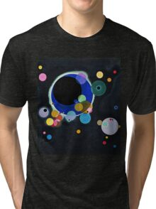 Abstract Kandinsky Painting black and blue Tri-blend T-Shirt