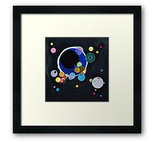 Abstract Kandinsky Painting black and blue Framed Print