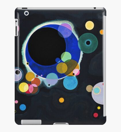 Abstract Kandinsky Painting black and blue iPad Case/Skin