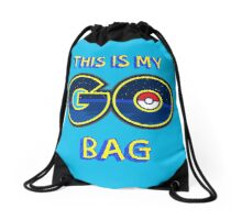 My GO! Bag (Blue) Drawstring Bag