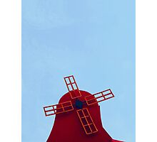 The Red Windmill Photographic Print