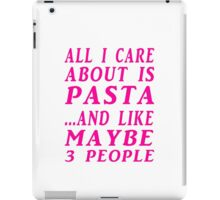 all about pasta pink iPad Case/Skin