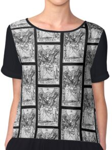 The Lovers Tarot Card - Major Arcana - fortune telling - occult Chiffon Top