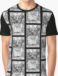 The Lovers Tarot Card - Major Arcana - fortune telling - occult Graphic T-Shirt