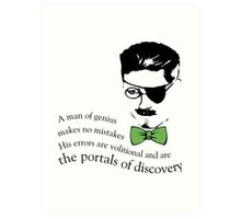 James Joyce Ulysses man of genius Art Print