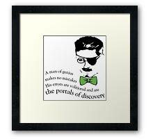 James Joyce Ulysses man of genius Framed Print