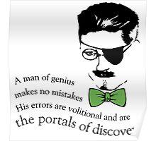 James Joyce Ulysses man of genius Poster