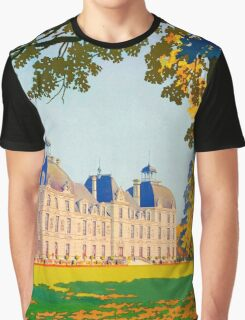 Cheverny, French Travel Poster Graphic T-Shirt