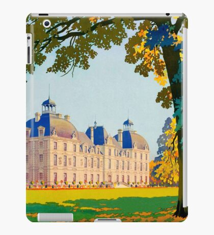 Cheverny, French Travel Poster iPad Case/Skin