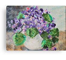 Dorothea's Violets Canvas Print