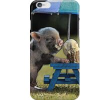 Piggy with Ice Cream iPhone Case/Skin