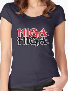 NIGAHIGA Two Layer Women's Fitted Scoop T-Shirt