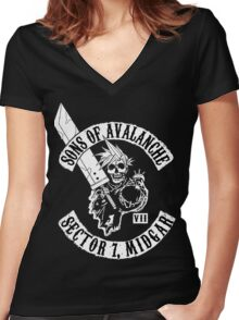 Sons Of Avalanche Women's Fitted V-Neck T-Shirt