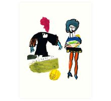 Dot and Jill.. set the fashion Art Print