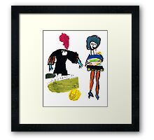 Dot and Jill.. set the fashion Framed Print