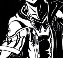 Kingdom Hearts Sora Black and White Sticker