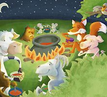 At the campfire by Sanne Thijs