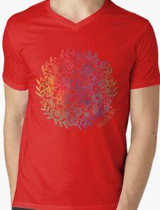 Rainbow Flowers Mens V-Neck T-Shirt