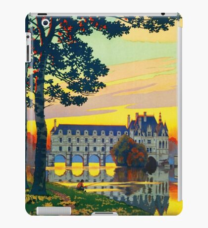 Chenonceaux, French Travel Poster iPad Case/Skin