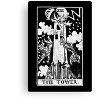 The Tower Tarot Card - Major Arcana - fortune telling - occult Canvas Print