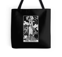 The Tower Tarot Card - Major Arcana - fortune telling - occult Tote Bag
