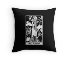 The Tower Tarot Card - Major Arcana - fortune telling - occult Throw Pillow
