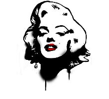 Marilyn Monroe Graffiti Photographic Print