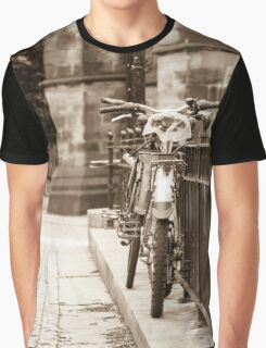 Chained Bicycles Graphic T-Shirt