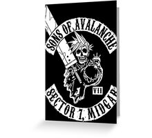 Sons Of Avalanche Greeting Card