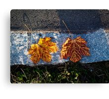two left leaves Canvas Print