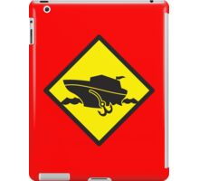 DANGER warning sign Cruise liner boat crossing iPad Case/Skin