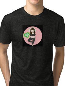 Chunky Yoga, Yoga for all body shapes Tri-blend T-Shirt