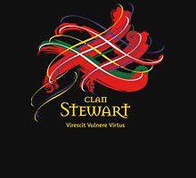 Clan Stewart - Prefer your gift on Black/White tell us at info@tangledtartan.com  Unisex T-Shirt