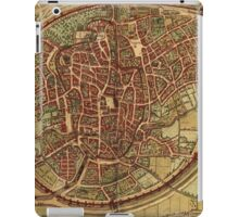 Brussels Vintage map.Geography Belgium ,city view,building,political,Lithography,historical fashion,geo design,Cartography,Country,Science,history,urban iPad Case/Skin